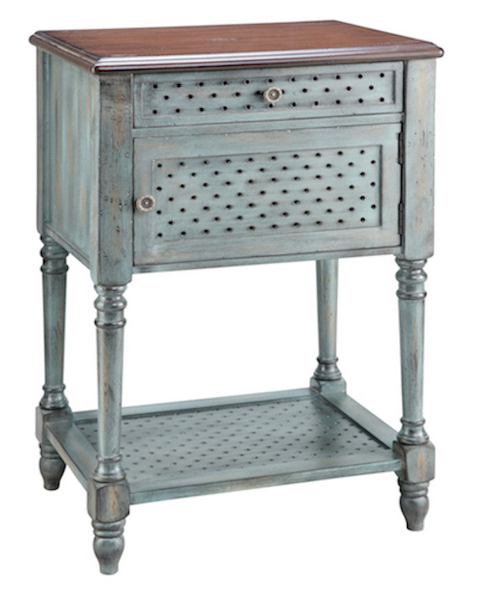 12030 - Hartford Hand Painted One DrawerTable, Accent Tables, Stein World, - ReeceFurniture.com - Free Local Pick Ups: Frankenmuth, MI, Indianapolis, IN, Chicago Ridge, IL, and Detroit, MI