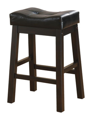G120519 - Upholstered Stools Black And Cappuccino