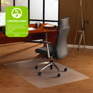 "Cleartex Ultimat Polycarbonate Rectangular Chair mat for Hard Floors (48"" X 53""), Floor Mats, FloorTexLLC, - ReeceFurniture.com - Free Local Pick Ups: Frankenmuth, MI, Indianapolis, IN, Chicago Ridge, IL, and Detroit, MI"