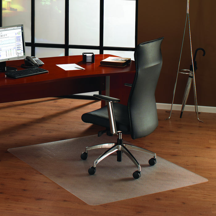 Cleartex Anti-Slip UnoMat Rectangular Chair mat for Polished or High Gloss Hard Floors, Very Low Pile Carpets and Carpet Tiles