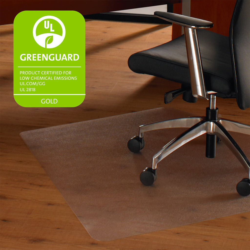"Cleartex Ultimat, Polycarbonate Corner Workstation Chair mat for Hard Floors (48"" X 60""), Floor Mats, FloorTexLLC, - ReeceFurniture.com - Free Local Pick Ups: Frankenmuth, MI, Indianapolis, IN, Chicago Ridge, IL, and Detroit, MI"