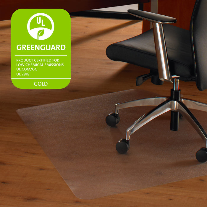 "Cleartex Ultimat, Polycarbonate Corner Workstation Chair mat for Hard Floors (48"" X 60"")"
