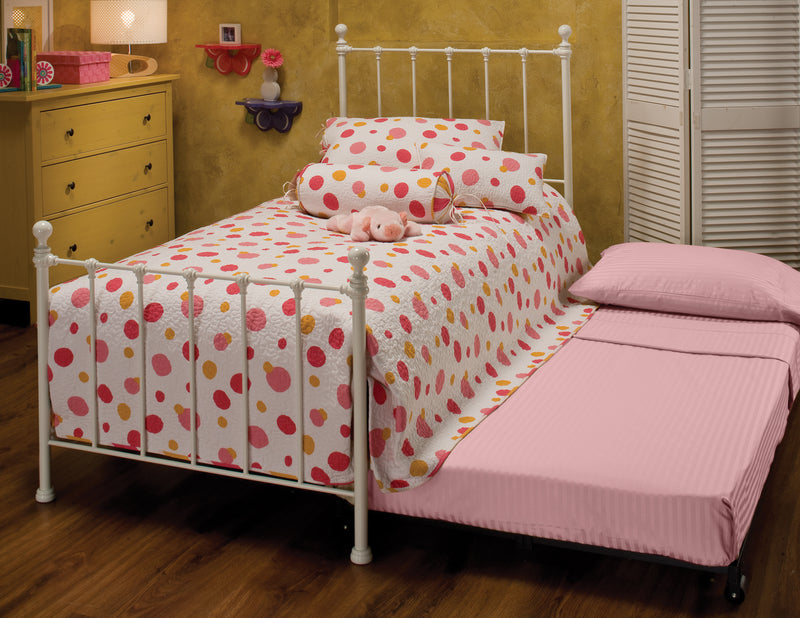 Molly Bed Set Twin with Rails and Trundle - Free Shipping!, Hillsdale Bedroom, Hillsdale Furniture, - ReeceFurniture.com - Free Local Pick Ups: Frankenmuth, MI, Indianapolis, IN, Chicago Ridge, IL, and Detroit, MI