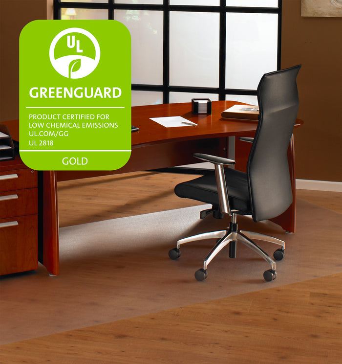 "Cleartex XXL Polycarbonate Rectangular General Office Mat For Hard Floors (48"" x 118"")"