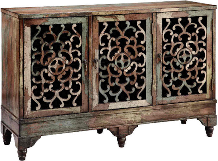 12524 - Ruskin Cabinet Three Door  Accent Cabinet - Free Shipping!, Accent Cabinets, Stein World, - ReeceFurniture.com - Free Local Pick Ups: Frankenmuth, MI, Indianapolis, IN, Chicago Ridge, IL, and Detroit, MI
