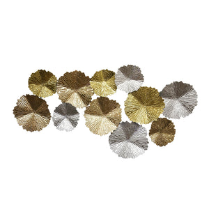 "Metal Wall Decor Lily Pads, 48.5"", Multi, Wb"
