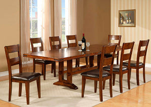 1268 Dining Double Trestle Table With 6 Side Chairs, Dining, American Imports, - ReeceFurniture.com - Free Local Pick Ups: Frankenmuth, MI, Indianapolis, IN, Chicago Ridge, IL, and Detroit, MI