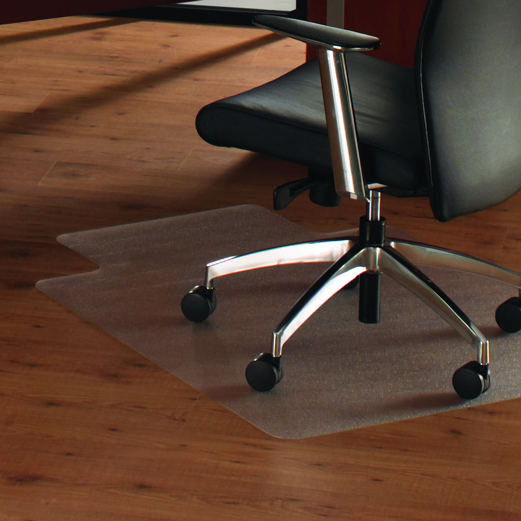 Cleartex Anti-Slip UnoMat Clear Chair mat for Polished or High Gloss Hard Floors, Very Low Pile Carpets and Carpet Tiles, Rectangular with Front Lipped Area for Under Desk Protection, Floor Mats, FloorTexLLC, - ReeceFurniture.com - Free Local Pick Ups: Frankenmuth, MI, Indianapolis, IN, Chicago Ridge, IL, and Detroit, MI