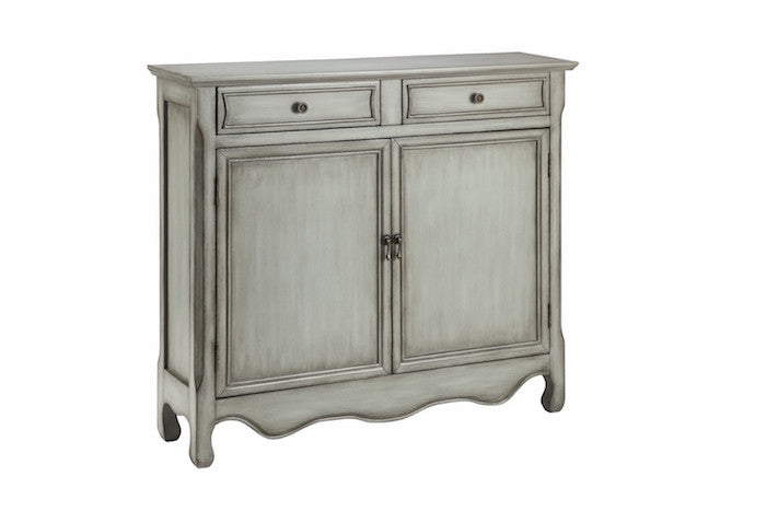 13016 - Claridon Cupboard Two Door, Two Drawer in Vintage Cream - Free Shipping!