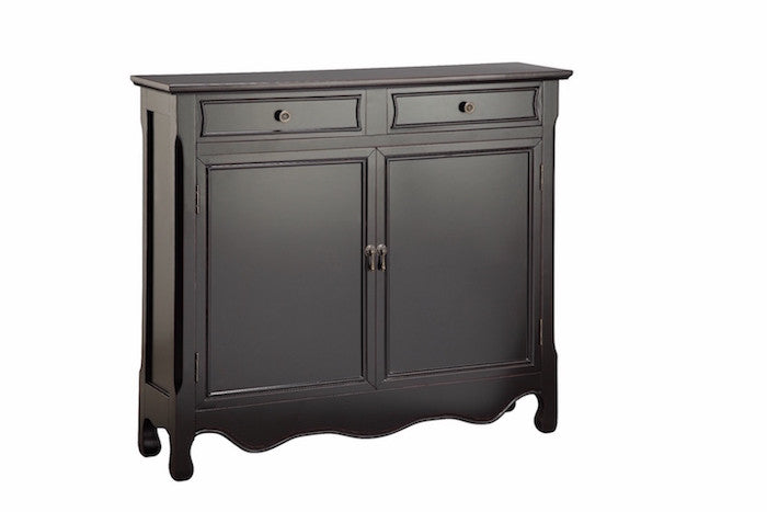 13019 - Clarridon Cupboard Two Door, Two Drawer in Black - Free Shipping!, Accent Cabinets, Stein World, - ReeceFurniture.com - Free Local Pick Ups: Frankenmuth, MI, Indianapolis, IN, Chicago Ridge, IL, and Detroit, MI