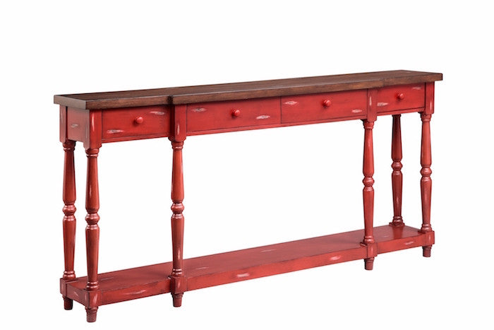 13135 - Simpson Four Drawer Console, Accent Consoles, Stein World, - ReeceFurniture.com - Free Local Pick Ups: Frankenmuth, MI, Indianapolis, IN, Chicago Ridge, IL, and Detroit, MI