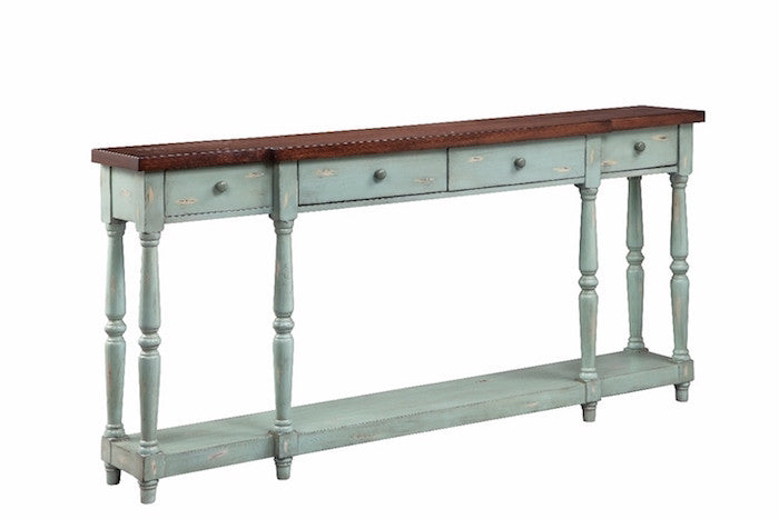 13136 - Simpson Four Drawer Console - Free Shipping!, Accent Consoles, Stein World, - ReeceFurniture.com - Free Local Pick Ups: Frankenmuth, MI, Indianapolis, IN, Chicago Ridge, IL, and Detroit, MI