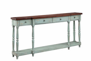 13136 - Simpson Four Drawer Console, Accent Consoles, Stein World, - ReeceFurniture.com - Free Local Pick Ups: Frankenmuth, MI, Indianapolis, IN, Chicago Ridge, IL, and Detroit, MI