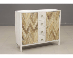 13314 - Derron Two-Door, Four-Drawer Accent Cabinet, Accent Cabinets, Stein World, - ReeceFurniture.com - Free Local Pick Ups: Frankenmuth, MI, Indianapolis, IN, Chicago Ridge, IL, and Detroit, MI