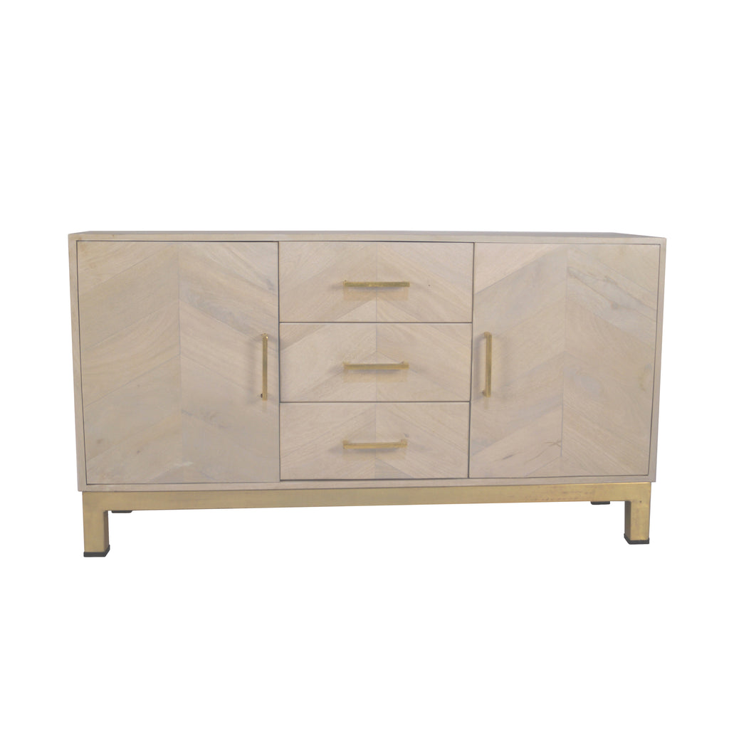 Light Wood/Gold Cabinet