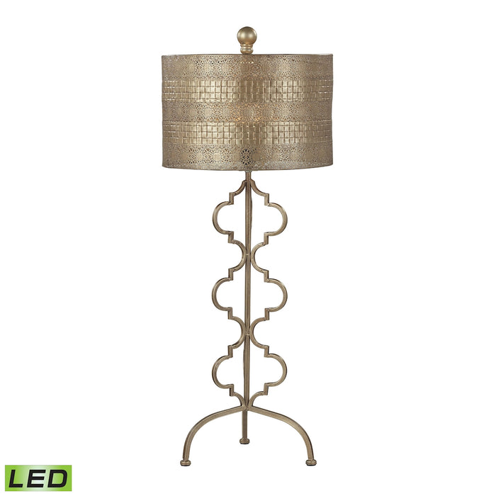 138-014-LED Metal LED Table Lamp in Gold Leaf - Free Shipping!