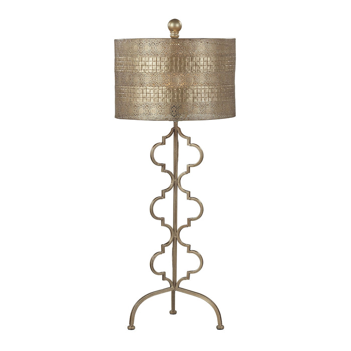 138-014 Metal Table Lamp in Gold Leaf