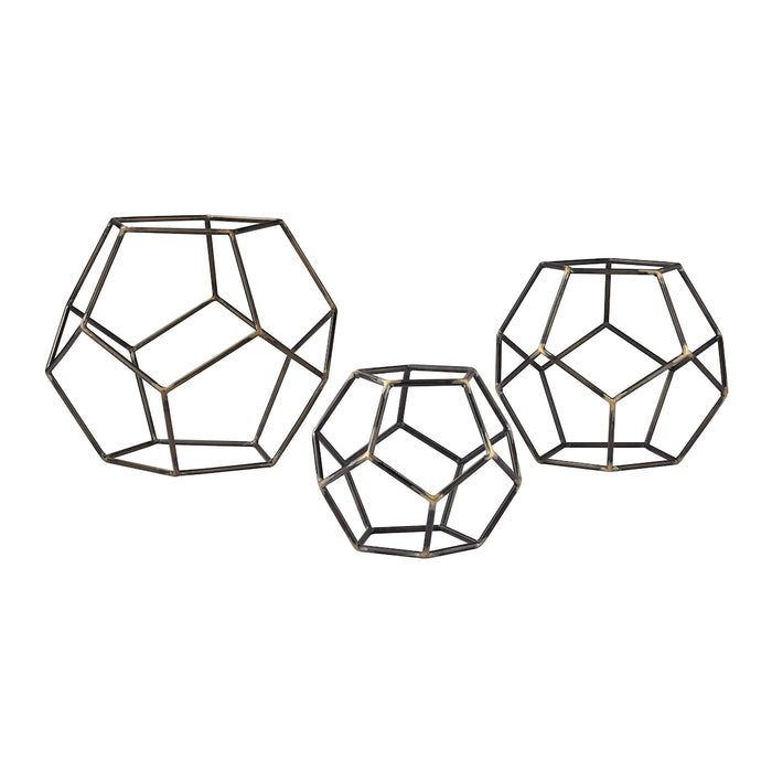 138-165/S3 Set of 3 Geometric Orbs - Free Shipping!