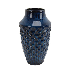 "Ceramic Vase 12"", Blue - ReeceFurniture.com"