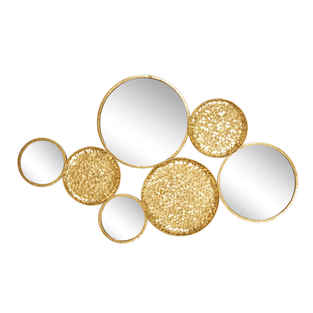 "Metal 39"" Mirrored Wall Decor, Gold,  Wb"
