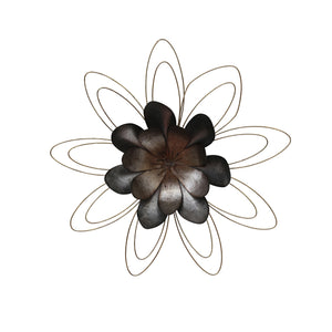 "Metal 23.25"" Flower Wall Decor, Multi Wb"