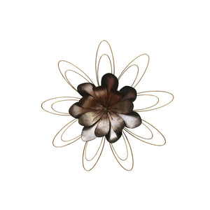 "Metal 18.25"" Flower Wall Decor, Multi Wb"