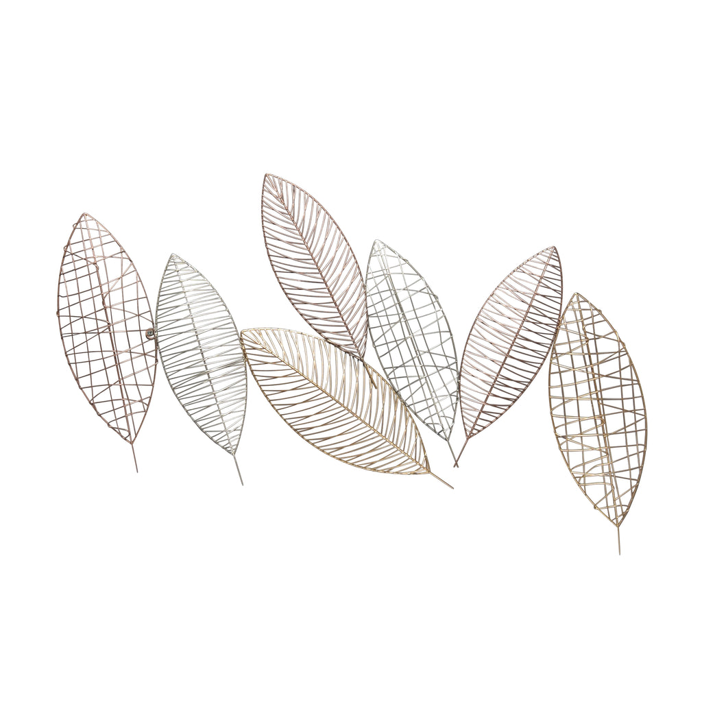 "Metal 38.25"" Leaf Wall Decor,  Multi, Wb"