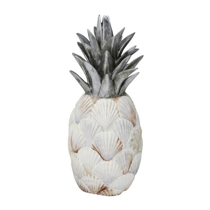 Resin Sea Shell Pineapple, Multi