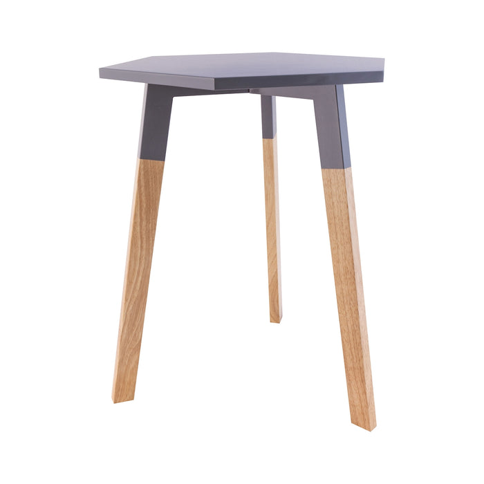 1572-015 Sky Pad Accent Table In Cool Grey