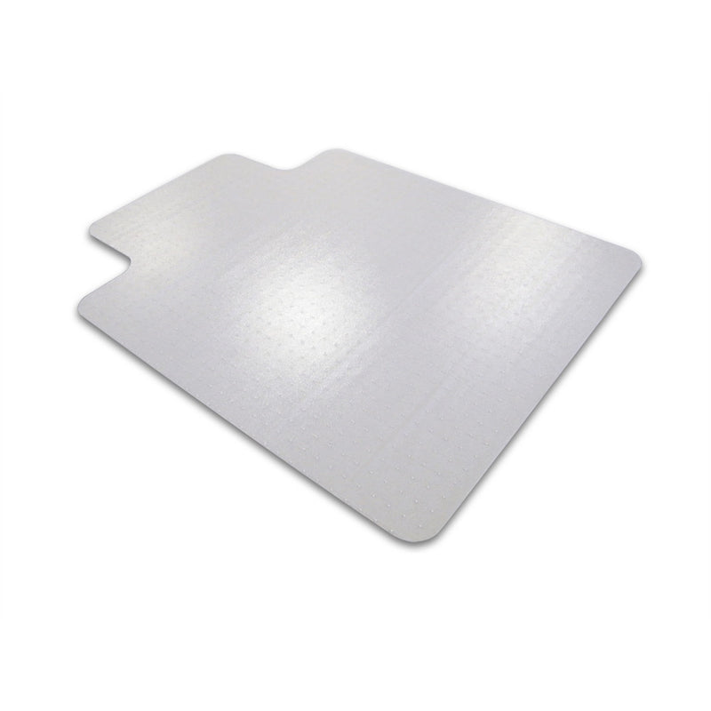 "Cleartex Advantagemat PVC Clear Chairmat for Low Pile Carpets 1/4"" or less , Rectangular with Front Lipped Area for Under Desk Protection, Floor Mats, FloorTexLLC, - ReeceFurniture.com - Free Local Pick Ups: Frankenmuth, MI, Indianapolis, IN, Chicago Ridge, IL, and Detroit, MI"
