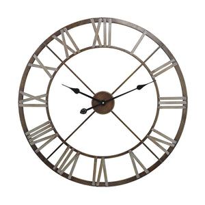 171-012 Open Center Iron Wall Clock, Wall Clock, Sterling, - ReeceFurniture.com - Free Local Pick Ups: Frankenmuth, MI, Indianapolis, IN, Chicago Ridge, IL, and Detroit, MI