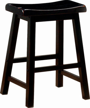G180019 - Black Wooden Stool - Counter Height or Bar