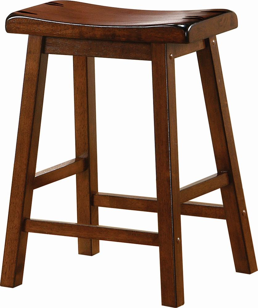G180069 - Wooden Chestnut Stool - Counter Height or Bar