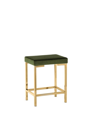 G182918 - Backless Stools - Rose Gold And Green or Rose Gold And Charcoal Grey