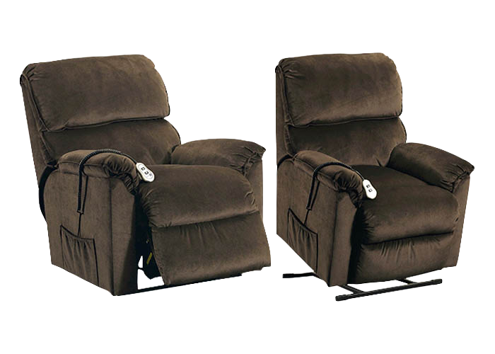 18597 Power Lift Recliner Sophia Mocha, Recliners & Gliders, Simmons, - ReeceFurniture.com - Free Local Pick Ups: Frankenmuth, MI, Indianapolis, IN, Chicago Ridge, IL, and Detroit, MI