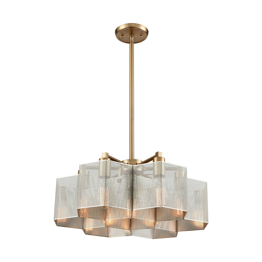 Compartir - Chandelier - Polished Nickel, Satin Brass, Satin Brass