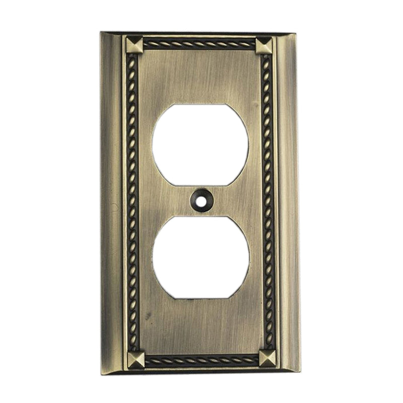 2500AB Clickplates 2-Socket Single Plate In Antique Brass, Clickplate, Elk Lighting, - ReeceFurniture.com - Free Local Pick Ups: Frankenmuth, MI, Indianapolis, IN, Chicago Ridge, IL, and Detroit, MI