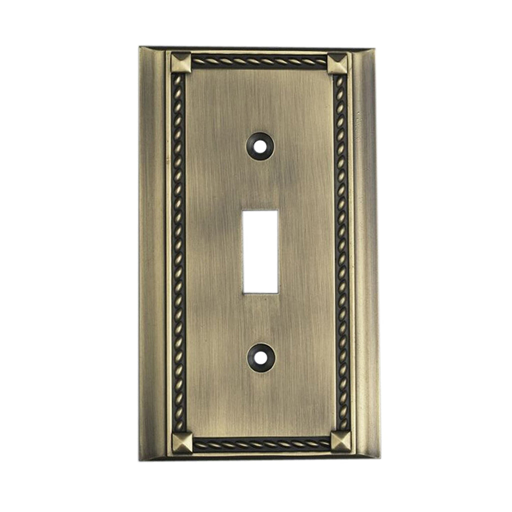 2501AB Clickplates Single Switch Plate In Antique Brass, Clickplate, Elk Lighting, - ReeceFurniture.com - Free Local Pick Ups: Frankenmuth, MI, Indianapolis, IN, Chicago Ridge, IL, and Detroit, MI