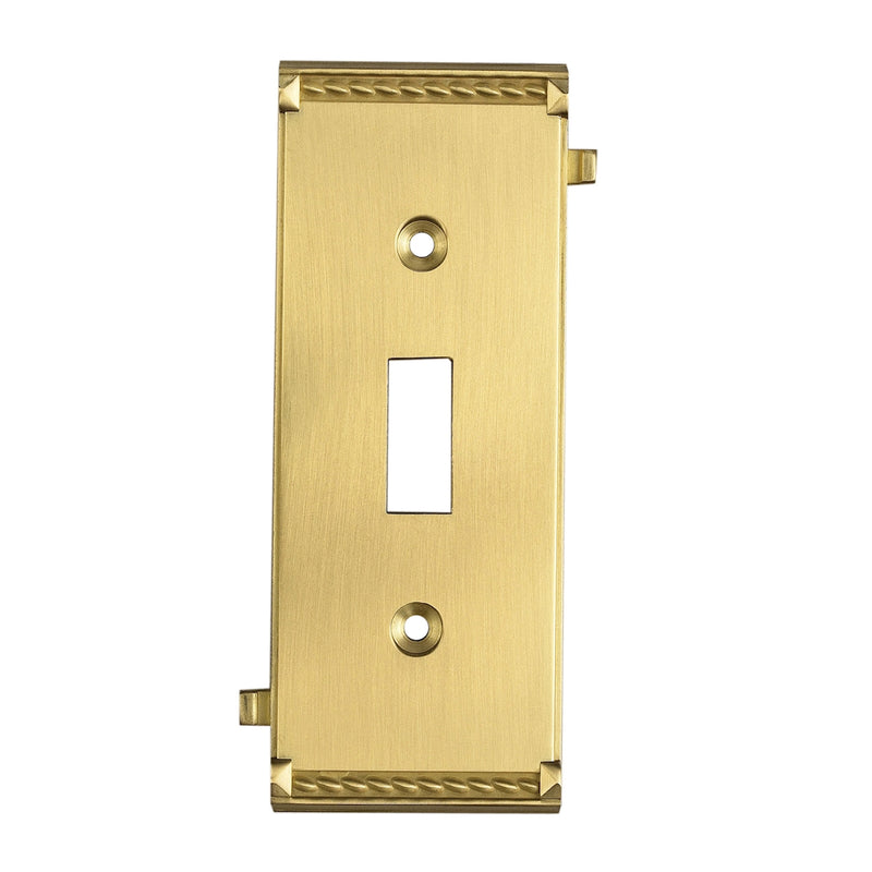 2504BR Clickplates Middle Switch Plate In Brass, Clickplate, Elk Lighting, - ReeceFurniture.com - Free Local Pick Ups: Frankenmuth, MI, Indianapolis, IN, Chicago Ridge, IL, and Detroit, MI