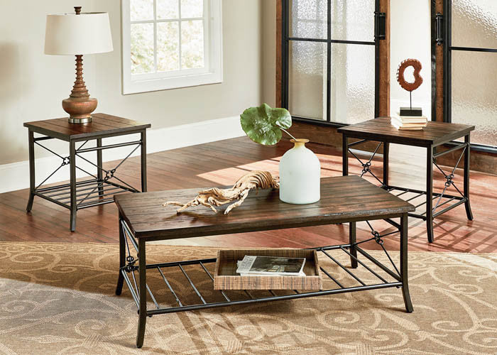 28173 Ainsley Cocktail Table & Two End Tables, Occasional Tables, Standard, - ReeceFurniture.com - Free Local Pick Ups: Frankenmuth, MI, Indianapolis, IN, Chicago Ridge, IL, and Detroit, MI