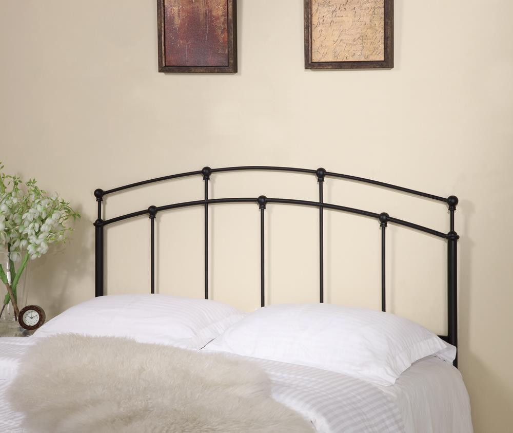 G300190 - Metal Arched Headboard - Black - ReeceFurniture.com