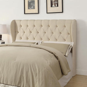 G300444 - Murrieta Tufted Upholstered Headboard - Beige - ReeceFurniture.com