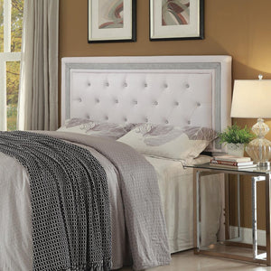 G300545 - Andenne Tufted Upholstered Headboard - White - ReeceFurniture.com