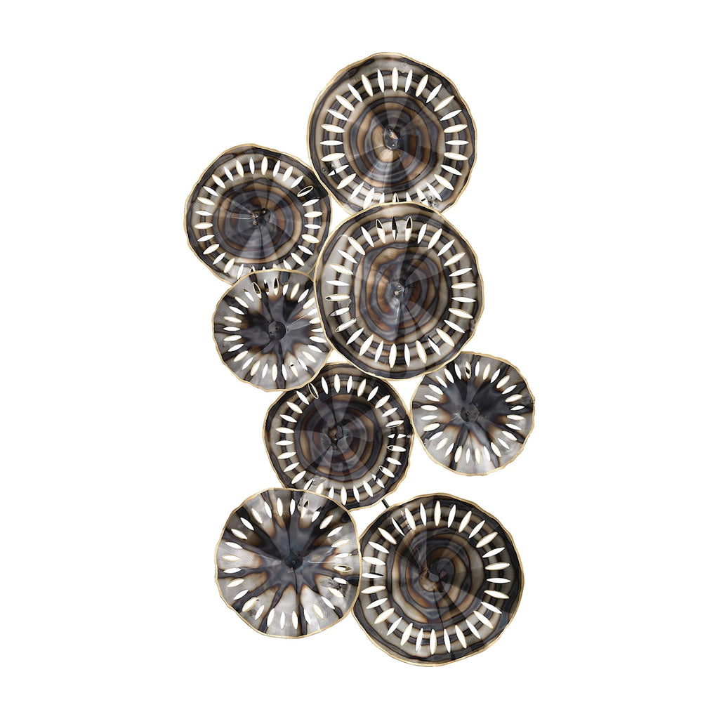 3129-1117 Novae Pierced Wall Decor In Bastille Silver, Wall Decor, Elk Home, - ReeceFurniture.com - Free Local Pick Ups: Frankenmuth, MI, Indianapolis, IN, Chicago Ridge, IL, and Detroit, MI