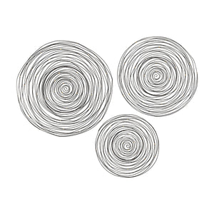3138-276/S3 Triskele Gunmetal Grey with Gold 16-24 Inch Set of 3 Raw Iron Spiral Wall Decor, Wall Decor, Elk Home, - ReeceFurniture.com - Free Local Pick Ups: Frankenmuth, MI, Indianapolis, IN, Chicago Ridge, IL, and Detroit, MI