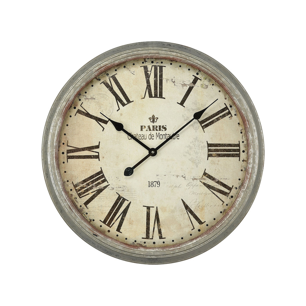 3205-008 Château de Montautre Wall Clock, Wall Clock, Elk Home, - ReeceFurniture.com - Free Local Pick Ups: Frankenmuth, MI, Indianapolis, IN, Chicago Ridge, IL, and Detroit, MI