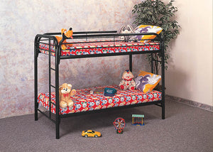 333 Twin/Twin Black Bunkbed, Youth Bedroom-Bunks-Futons, American Imports, - ReeceFurniture.com - Free Local Pick Ups: Frankenmuth, MI, Indianapolis, IN, Chicago Ridge, IL, and Detroit, MI