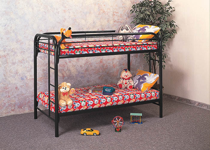 333-434 Black Twin/Twin Bunkbed