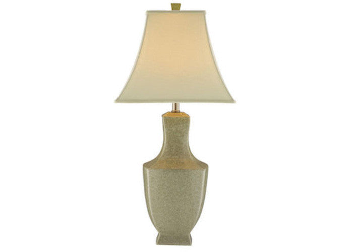 37859 - Honora Ivory Crackle Ceramic Table Lamp - ReeceFurniture.com