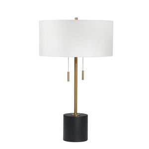 "Metal Stick Table Lamp 24"",  Gold"